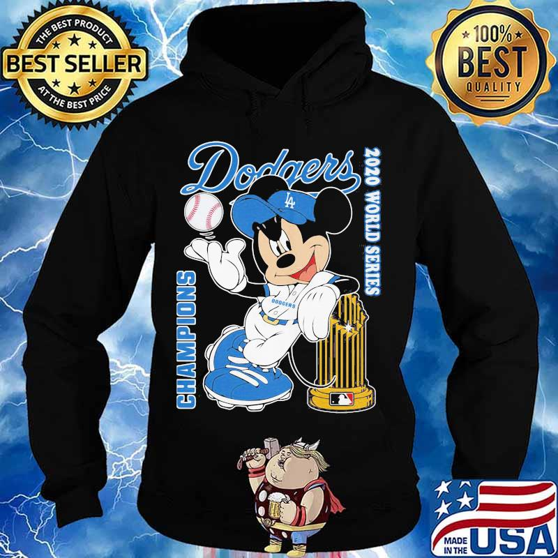 Mickey mouse Los angeles dodgers world series champions 2020 s Hoodie