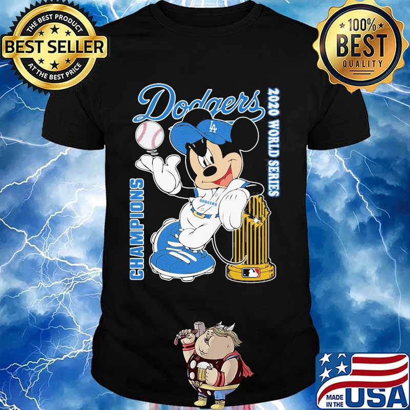Mickey mouse Los angeles dodgers world series champions 2020 shirt