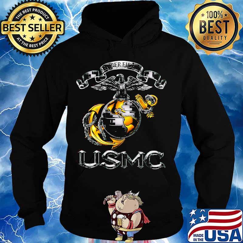 Semper fidelis usmc marine logo s Hoodie