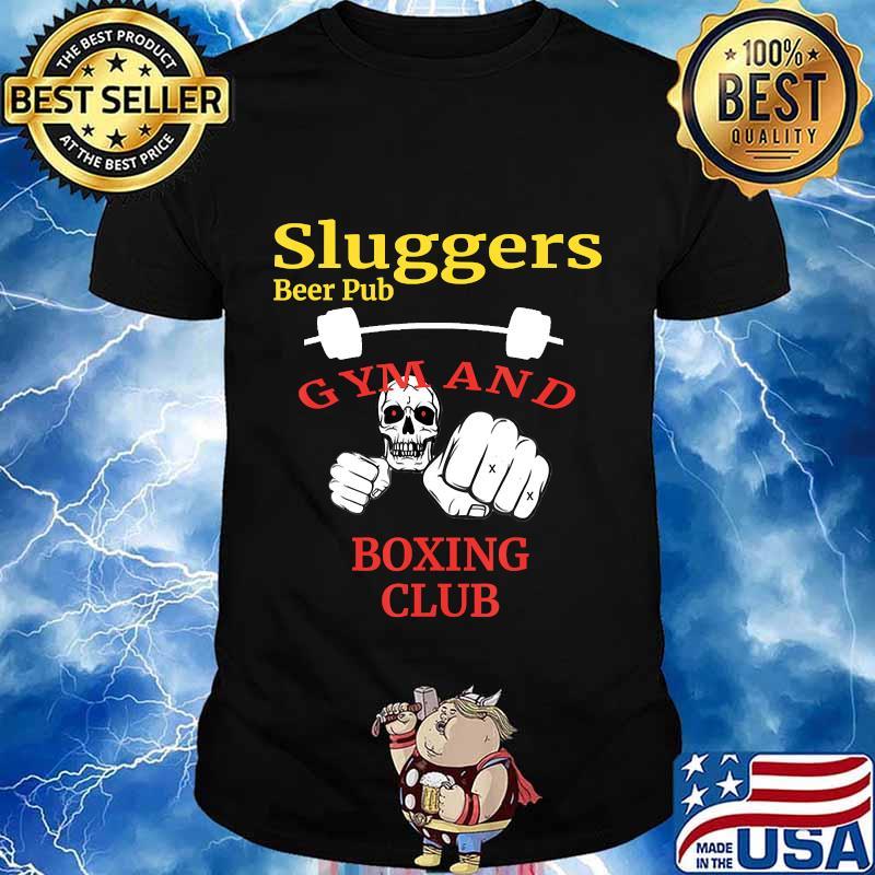 Sluggers Beer Pub Gym And Boxing Club Skull Shirt