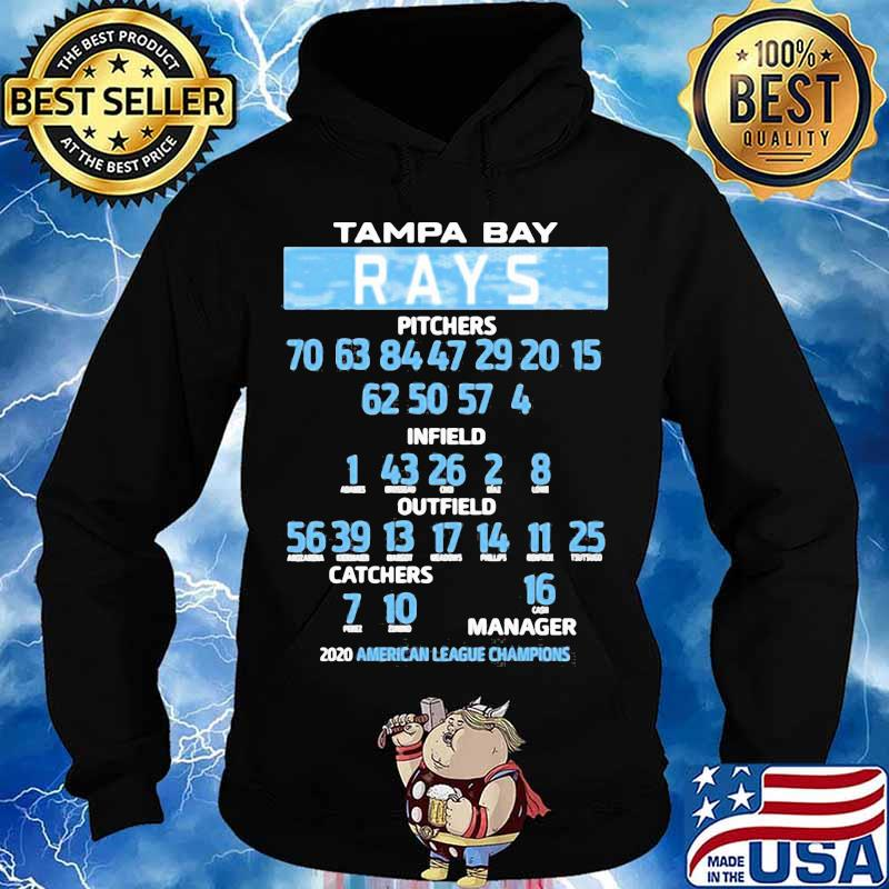 Tampa bay rays pitchers infield outfield catches manager 2020 american league champions s Hoodie