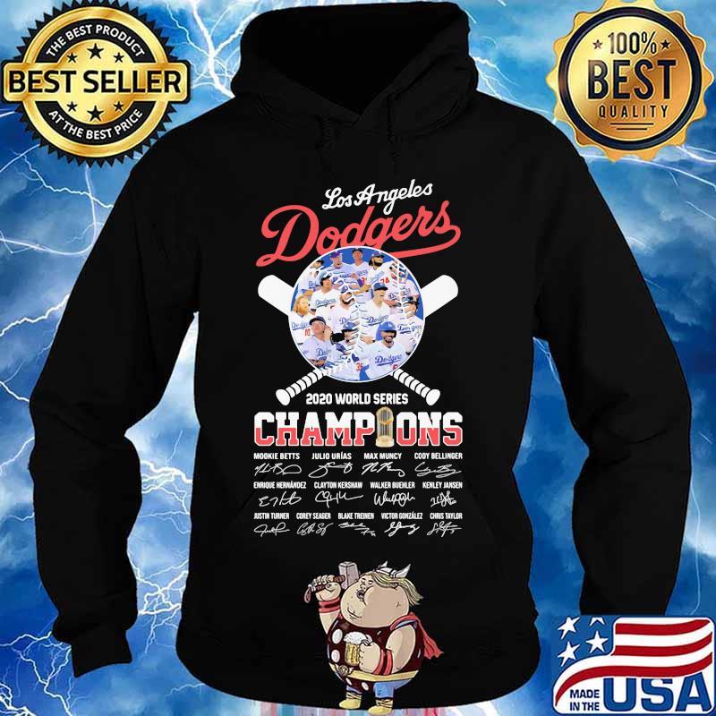 World series 2020 champions los angeles dodgers baseball signatures s Hoodie