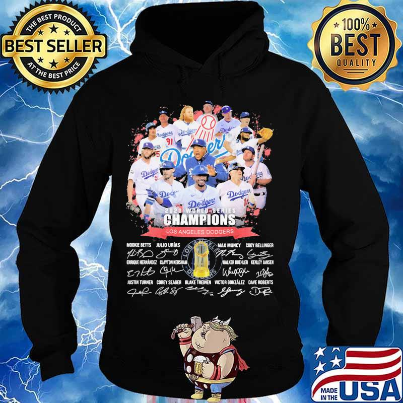 World series 2020 champions los angeles dodgers signatures s Hoodie