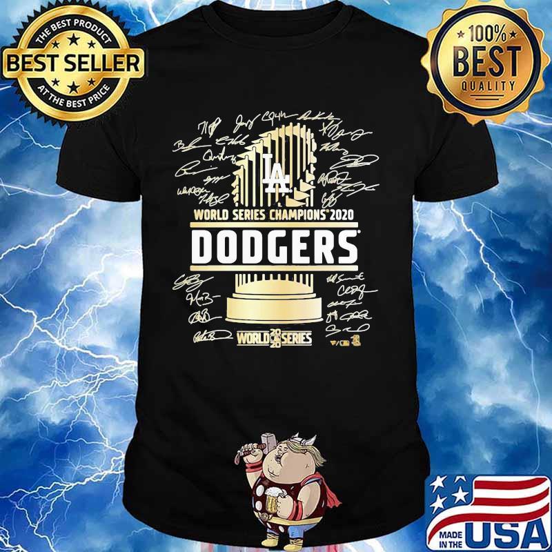 World series champions 2020 los angeles dodgers signatures shirt