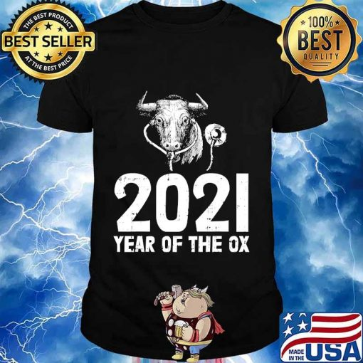 2021 year of the ox nurse new years eve party nursing shirt