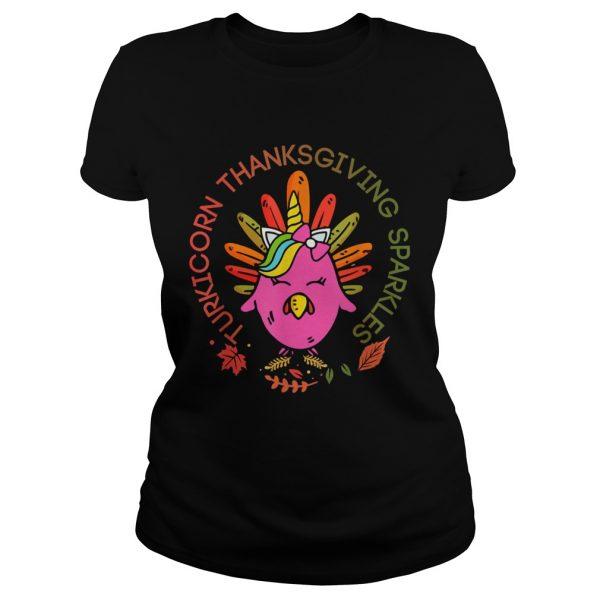 Unicorn Turkey Thanksgiving Sparkles Unisex Hoodie Sweater Long Sleeve And Tank Top