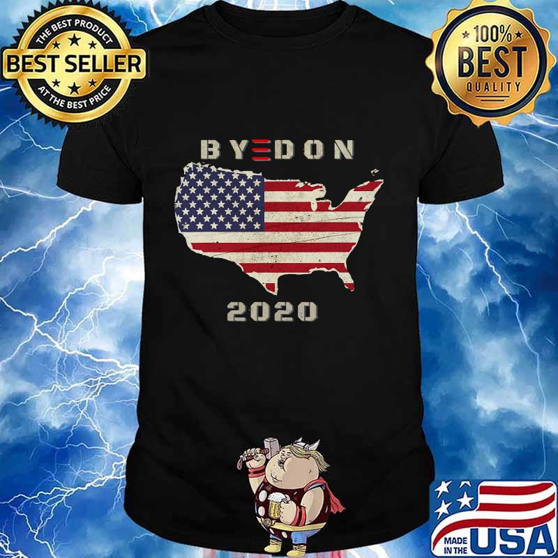 Byedon bye don joe biden president elect 2020 american map shirt
