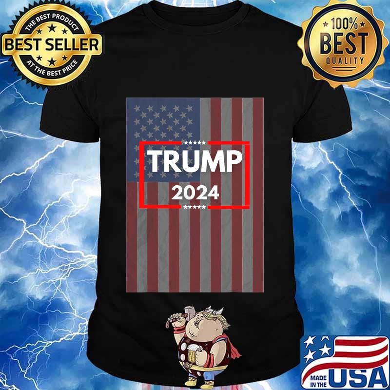 Donald trump 2024 for us president american flag shirt