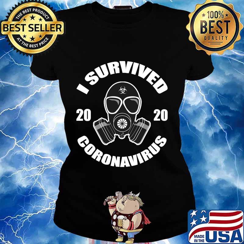 I survived 2020 virus survivor mask s Ladies tee
