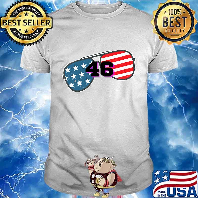 Joe biden 46 american flag glass shirt