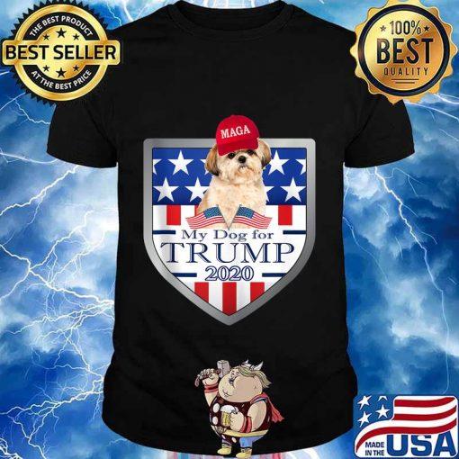 My shih tzu for trump 2020 for american stars shirt