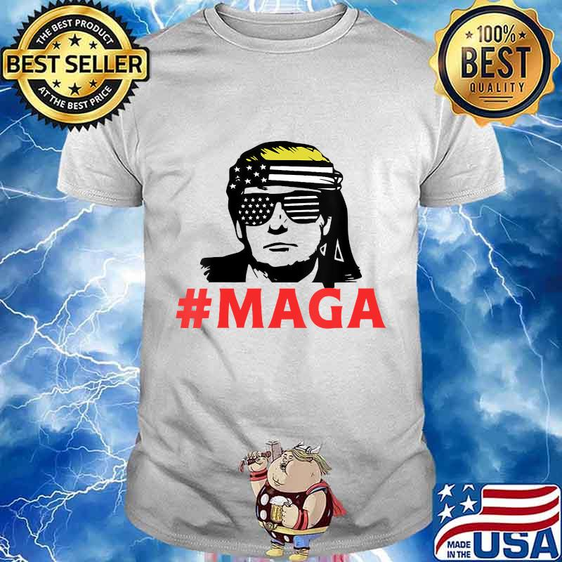 President trump maga patriotic american flag for patriots shirt