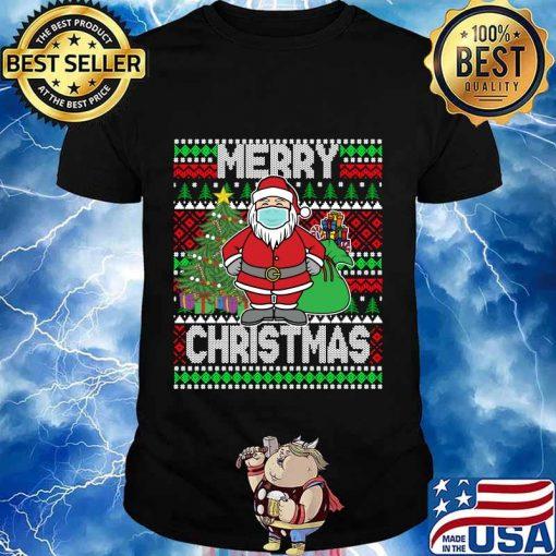 Santa claus wearing mask christmas 2020 shirt