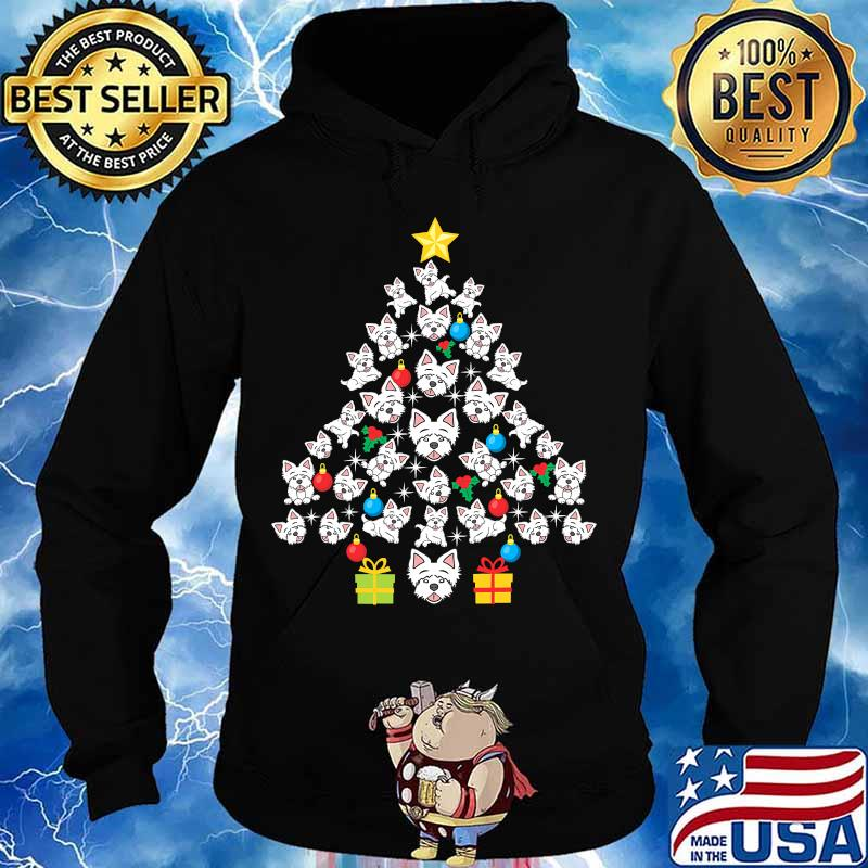 Westie christmas tree funny dog lover holidays s Hoodie