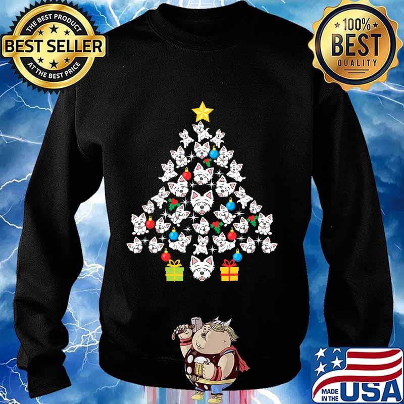 Westie christmas tree funny dog lover holidays s Sweater