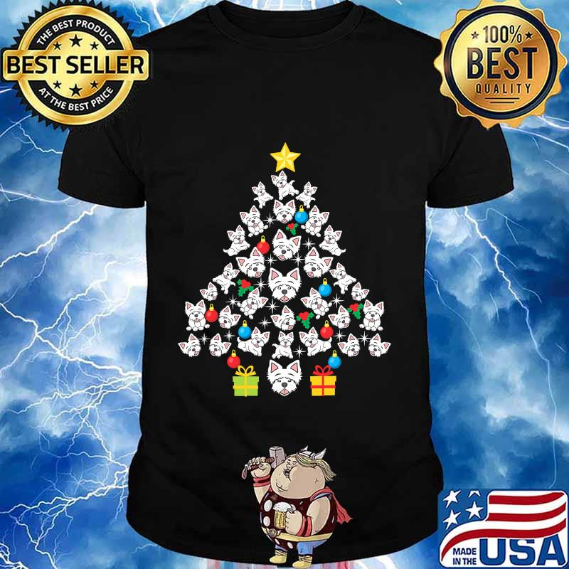 Westie christmas tree funny dog lover holidays shirt