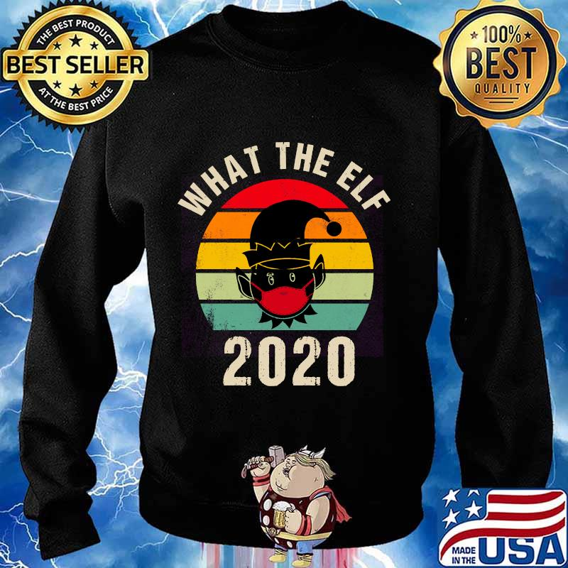 What the elf 2020 funny christmas pajama vintage retro s Sweater