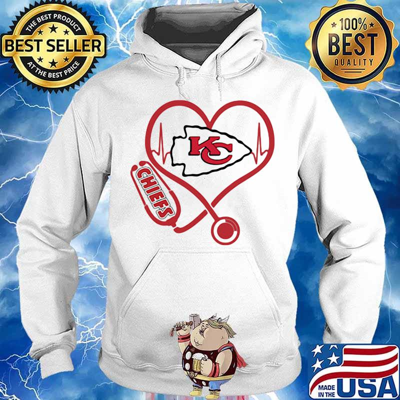 Love Chiefs Heart Beat Medical Shirt Hoodie