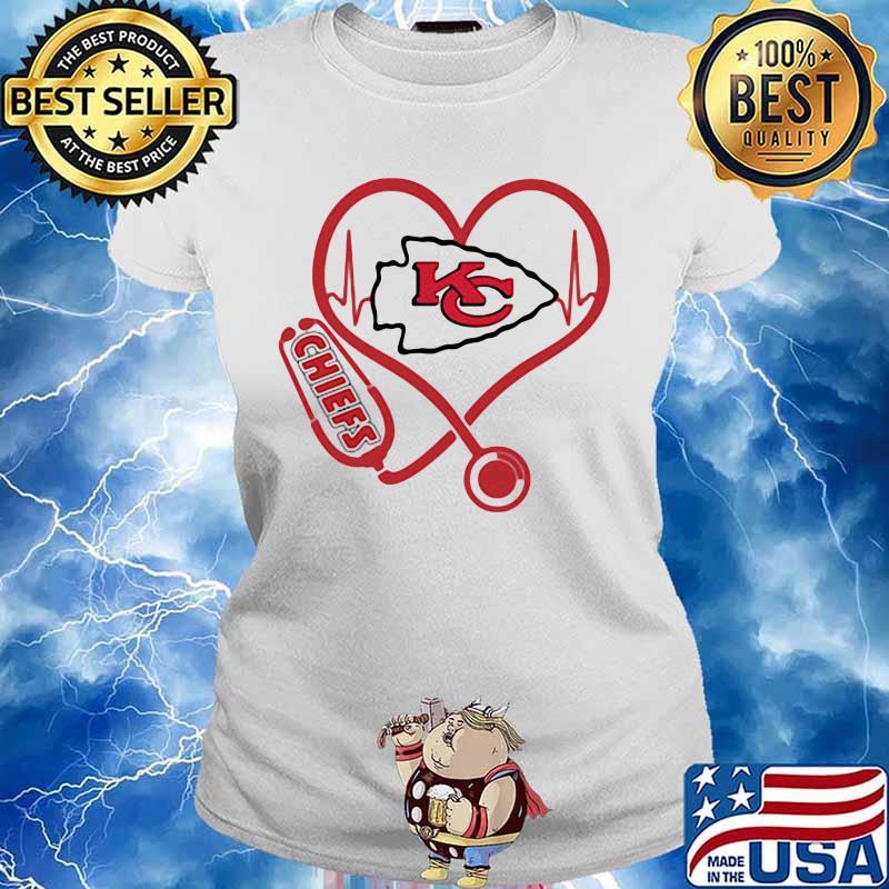 Love Chiefs Heart Beat Medical Shirt Ladies tee