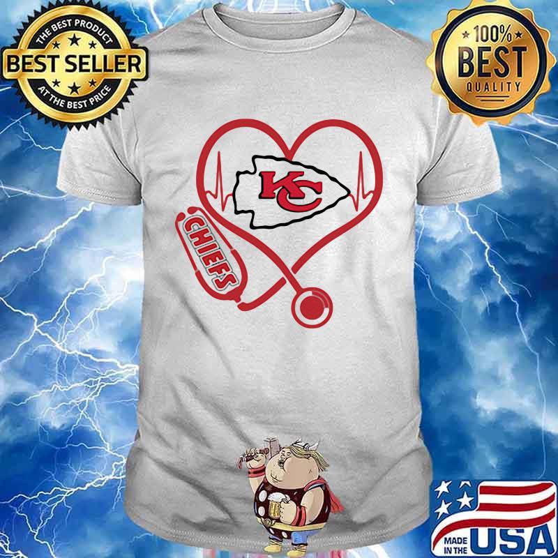 Love Chiefs Heart Beat Medical Shirt