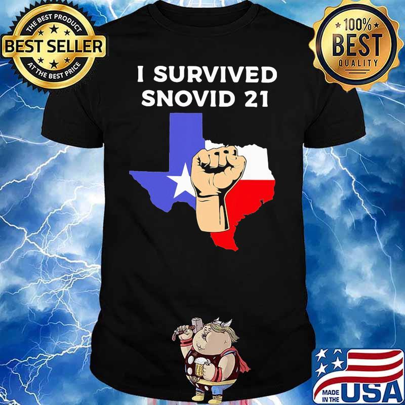 I Survived Snovid 21 Flag Shirt