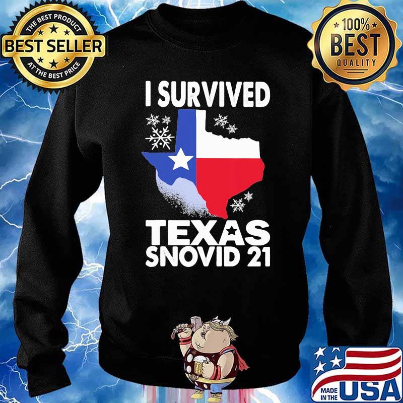 I Survived Texas Snovid 21 Covid 19 Flag Shirt Sweater