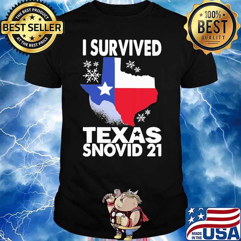 I Survived Texas Snovid 21 Covid 19 Flag Shirt