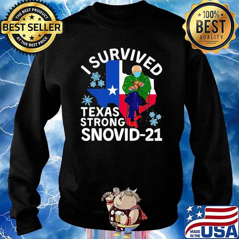 I Survived Texas Strong Snovid 21 Old Man Wear Mask Shirt Sweater
