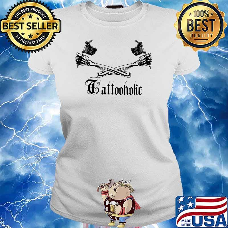 Tattoo Holic Art Bone Arm Shirt Ladies tee