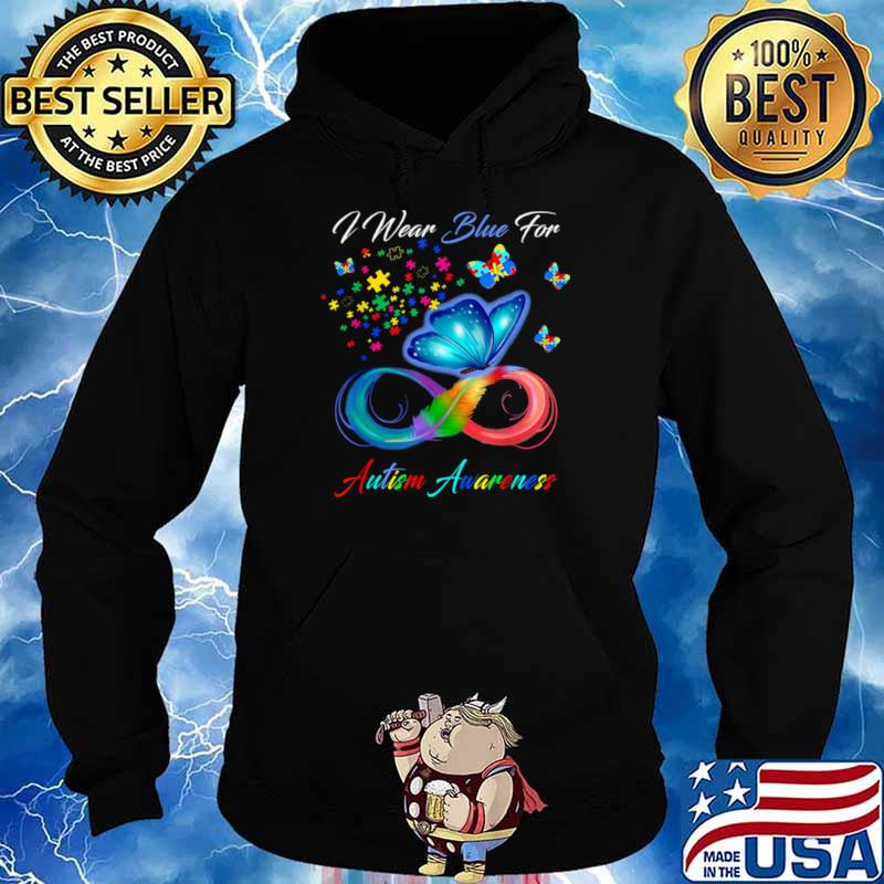 I Wear Blue For Autism Awareness Hoodie