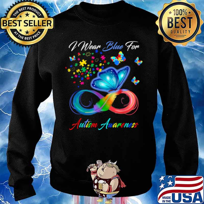I Wear Blue For Autism Awareness Sweater