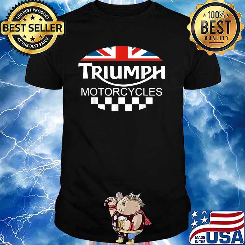 Motorcycle Triumph Biker Uk United Kingdom Flag Shirt