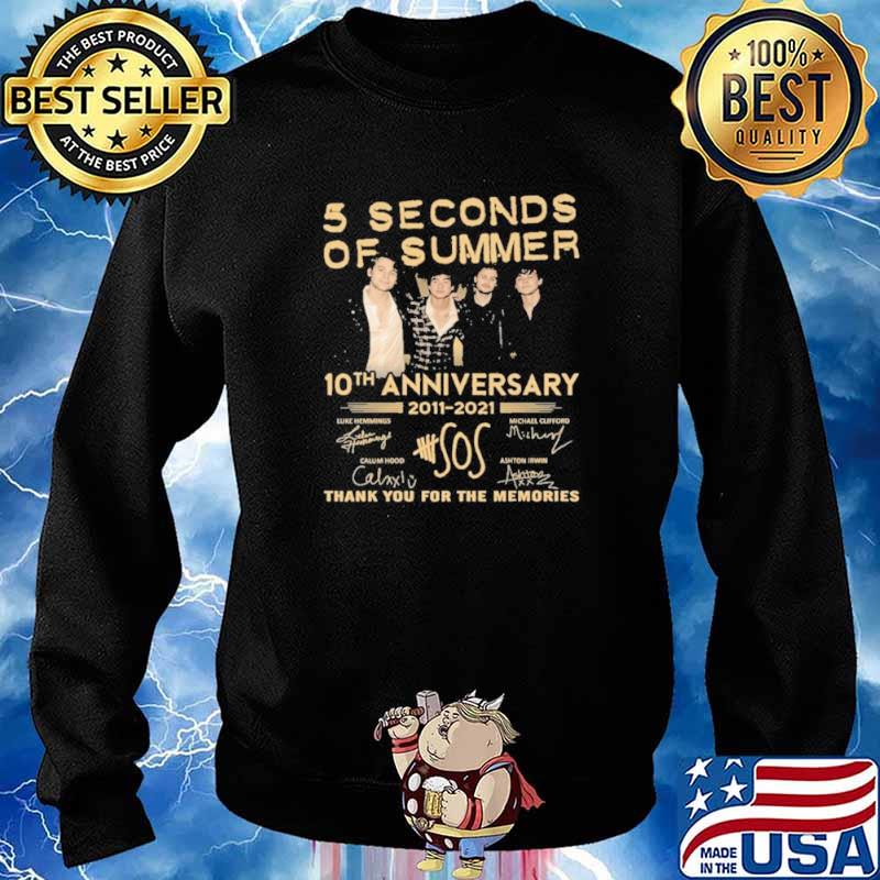 5 seconds of summer 10 th anniversary 2011 2021 thank you for the memories Sweater