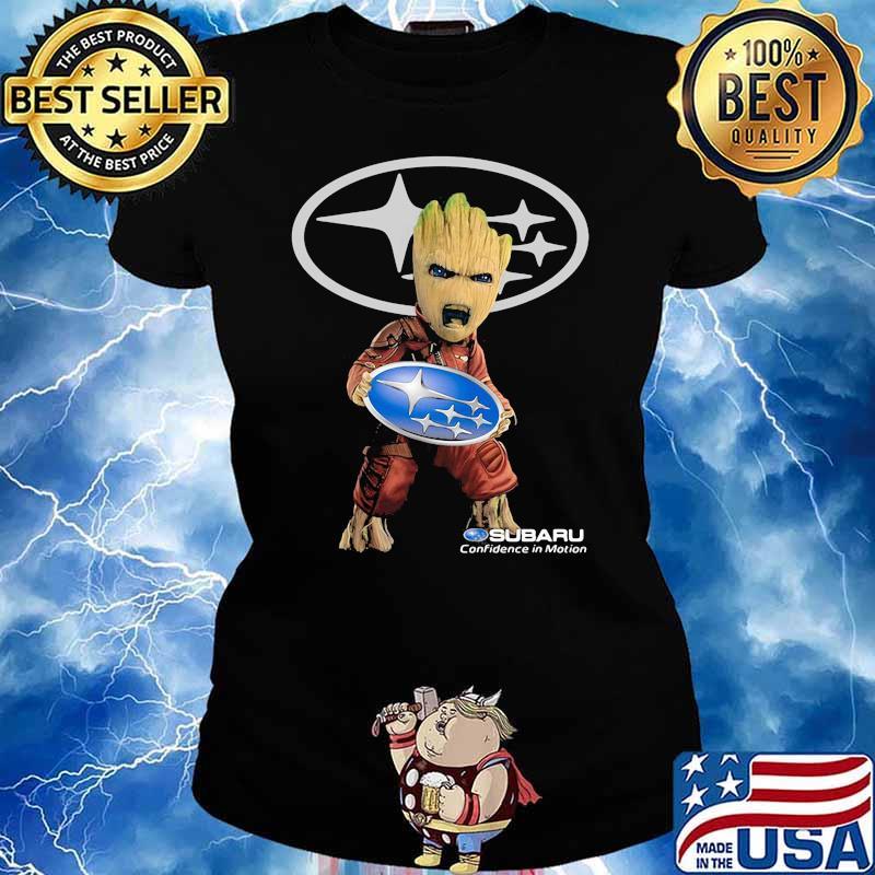 Groot Holding Subaru Confidence In Motion Logo Shirt Ladies tee