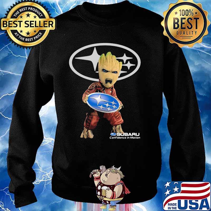 Groot Holding Subaru Confidence In Motion Logo Shirt Sweater