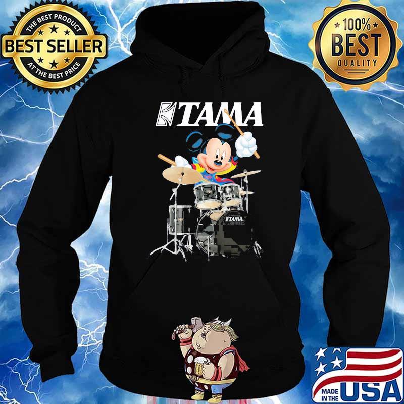 Mickey Drumming With Tama Logo Shirt Hoodie
