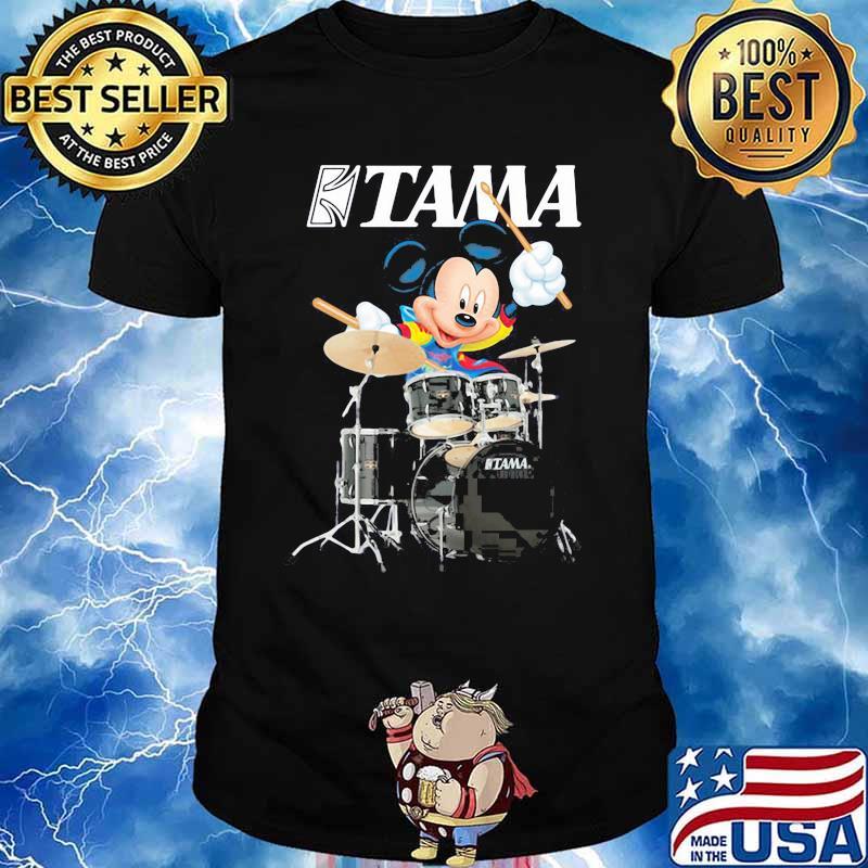 Mickey Drumming With Tama Logo Shirt