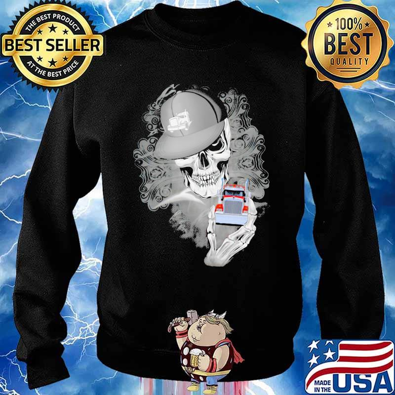 Official Skull Cap Trucker Shirt Sweater