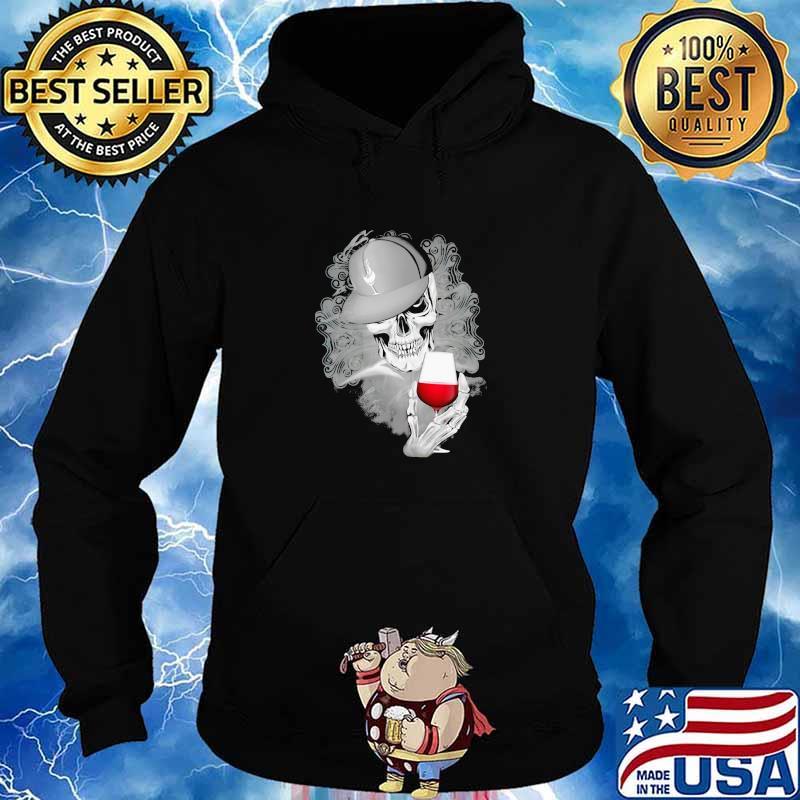 Official Skull Cap Wine Shirt Hoodie