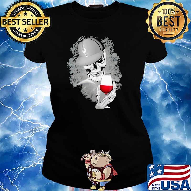 Official Skull Cap Wine Shirt Ladies tee
