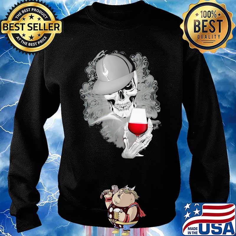 Official Skull Cap Wine Shirt Sweater