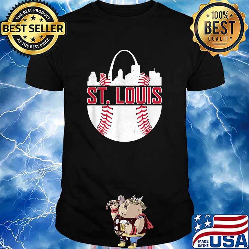St. Louis Baseball STL Skyline Novelty Cardinal Shirt