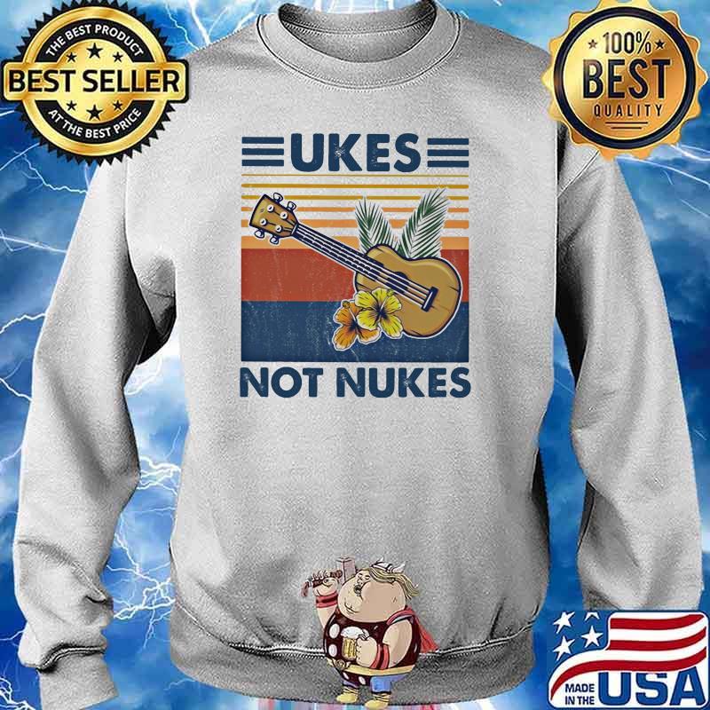 Ukes Not Nukes Guitar Vintage Shirt Sweater