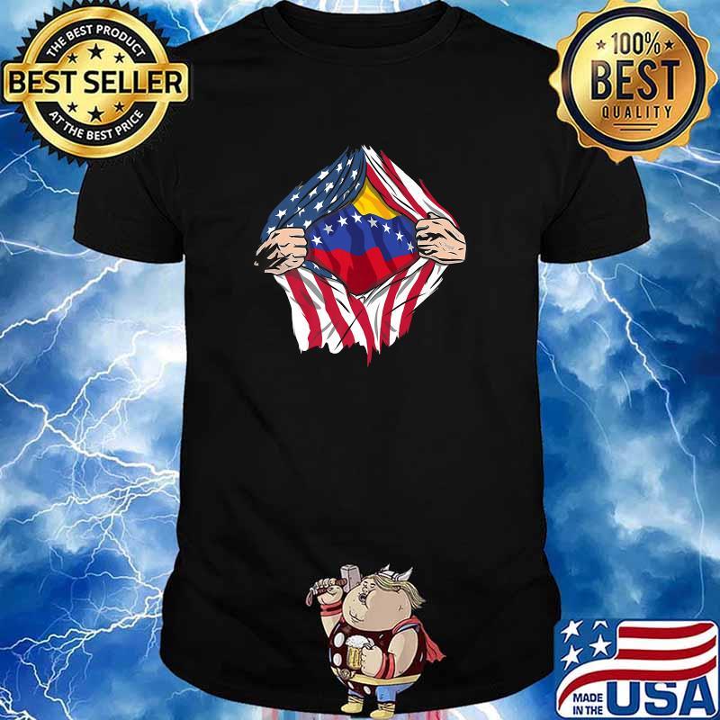 Venezuela Premium Superhero American flag Shirt