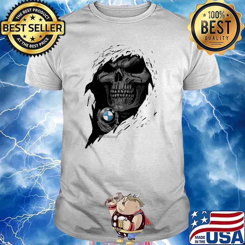 Skull with BMW motorrad logo shirt