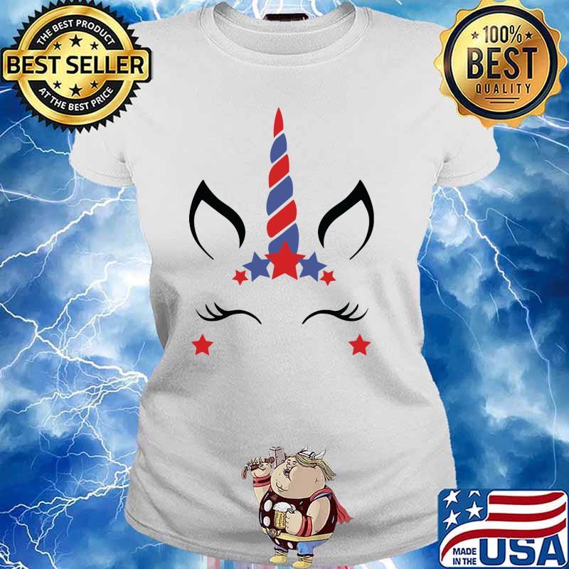 Unicorn Fourth Of July Shirt Ladies tee