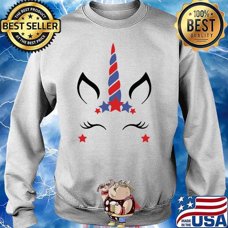 Unicorn Fourth Of July Shirt Sweater