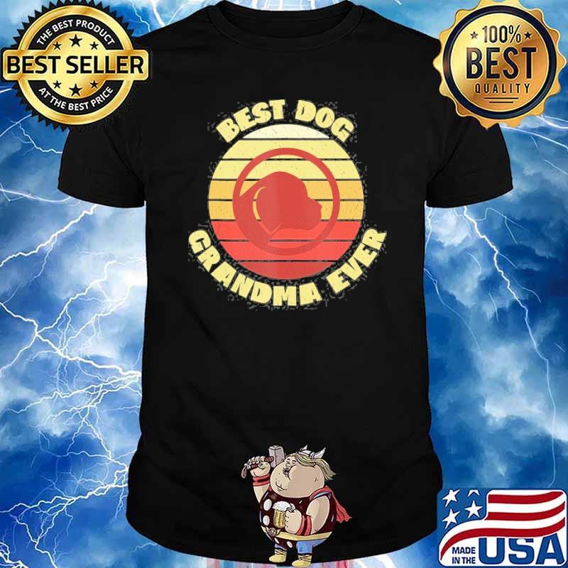 Best Dog Grandma Ever Vintage Sunset Shirt