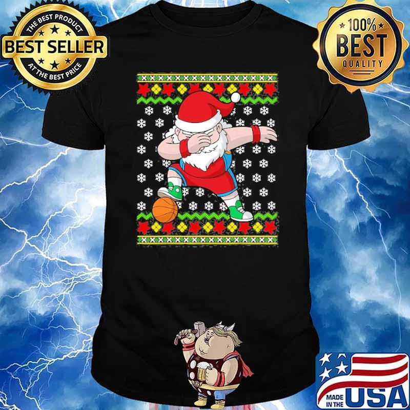 Christmas Dabbing Santa Basketball Dab Dance Shirt