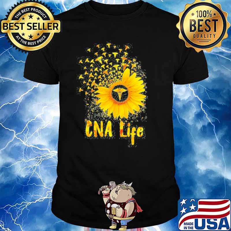 Cna Life Sunflower Nurse Shirt